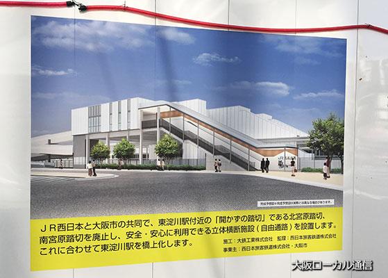 新しいJR東淀川駅