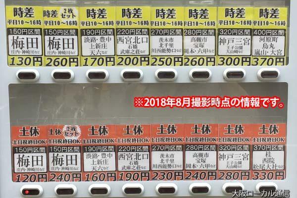 阪急格安キップ販売