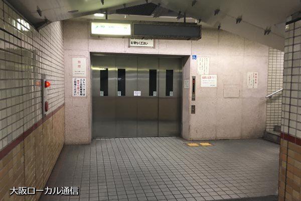 安治川トンネルのエレベーター