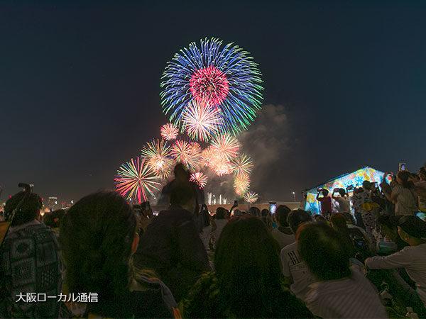 なにわ淀川花火大会の様子