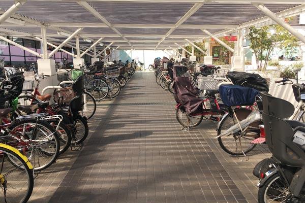 かみしんプラザの駐輪場