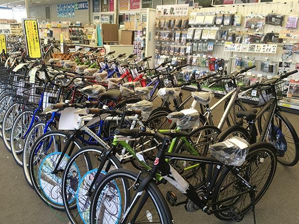コーナンの自転車販売コーナー