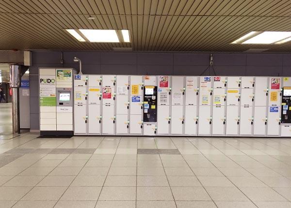 新大阪駅1Fのコインロッカー
