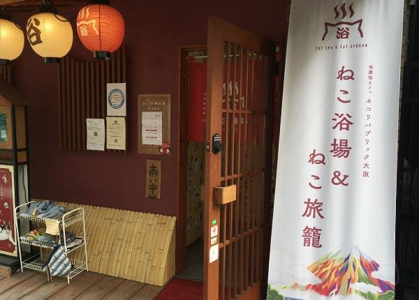 心斎橋の泊まれる猫カフェ!ねこ浴場&ねこ旅籠