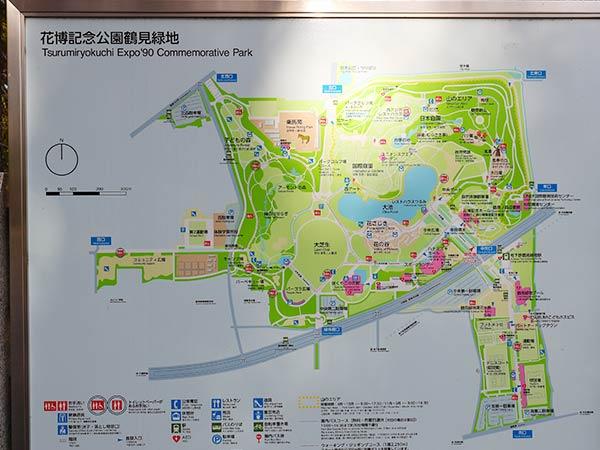 花博記念公園鶴見緑地の地図